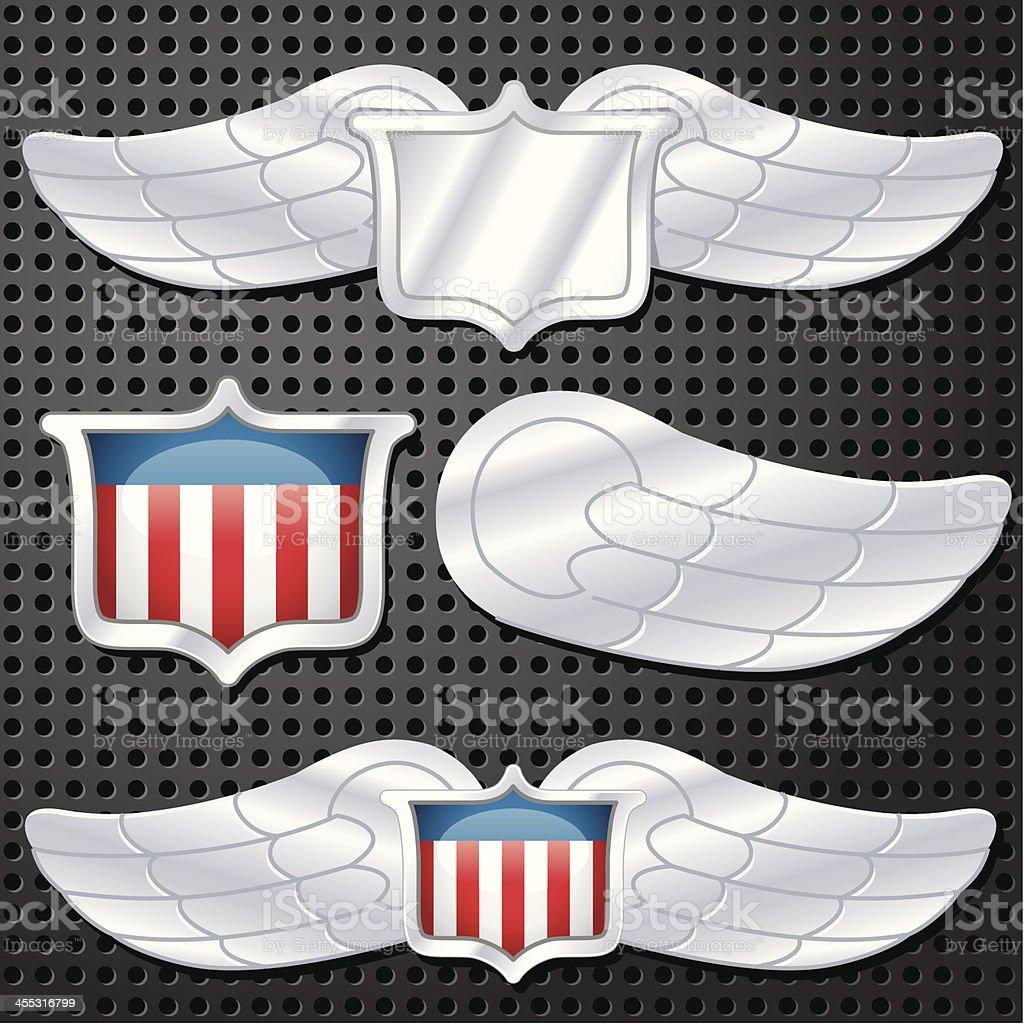 American Wings royalty-free stock vector art