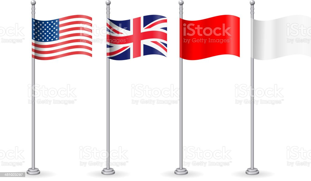 American with england flag vector art illustration