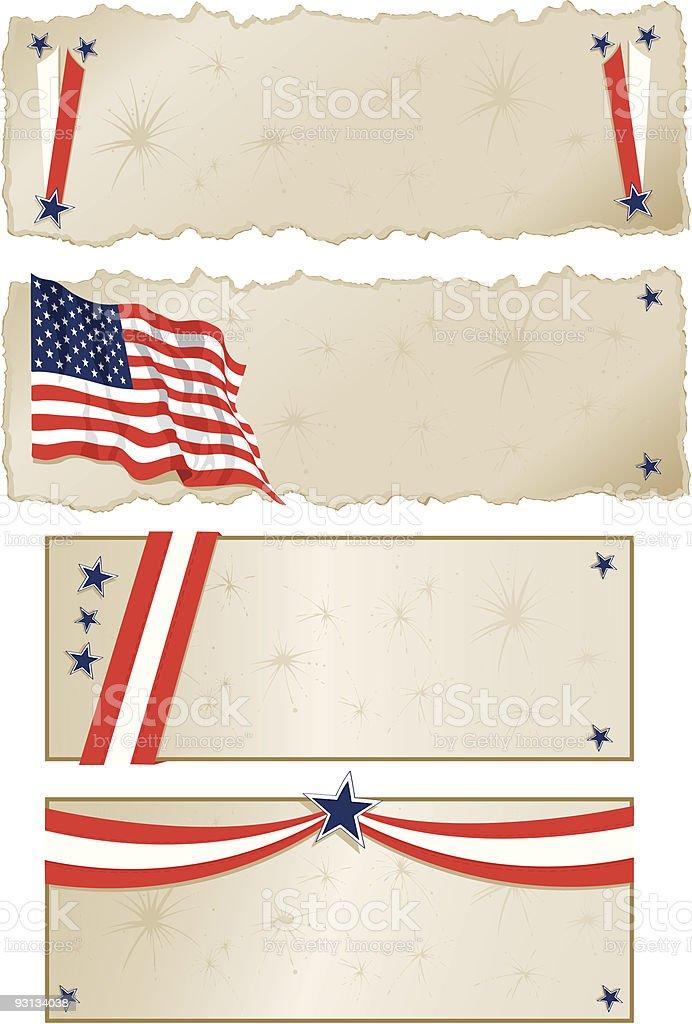 Americana Banners royalty-free stock vector art