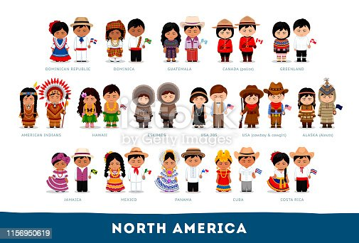 istock Americans in national clothes. 1156950619