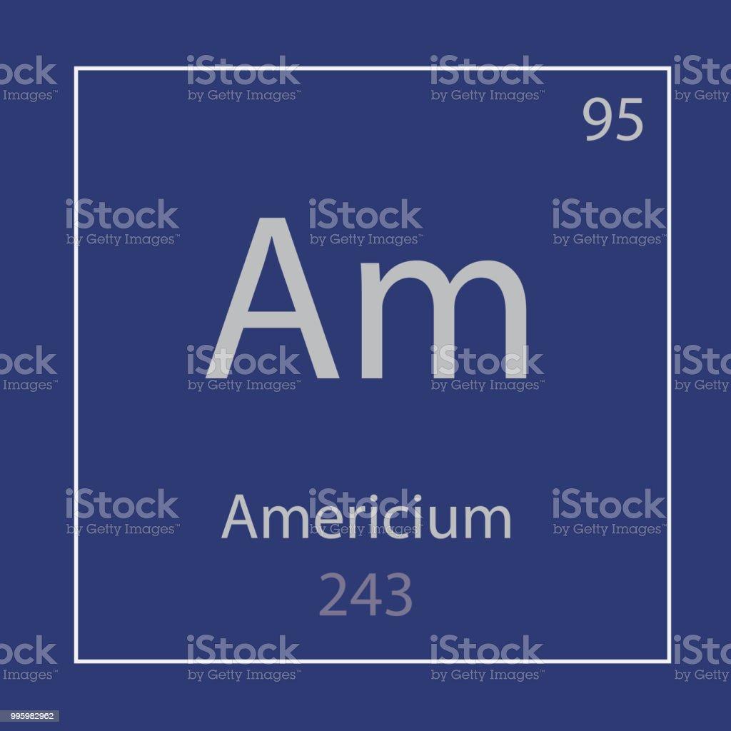 アメリシウム Am 化学要素のアイ...