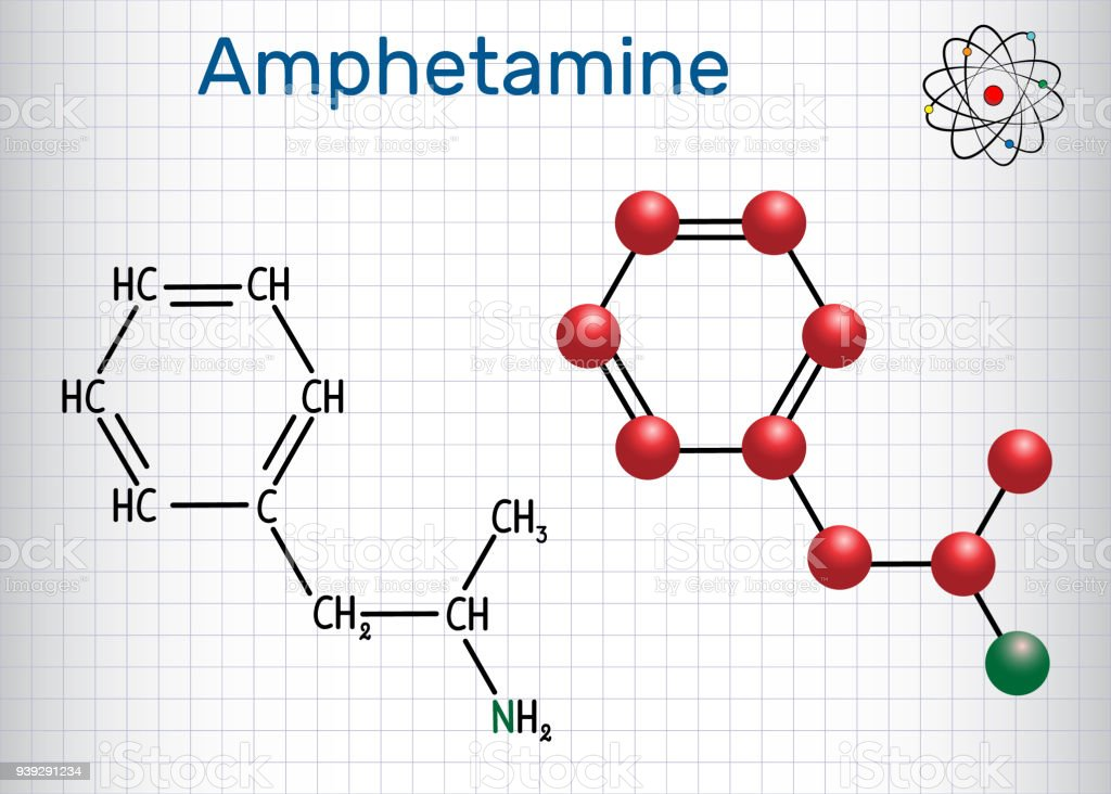 Amfetamine Molekül Ist Ein Starkes Zentralnervensystem Reizmittel ...