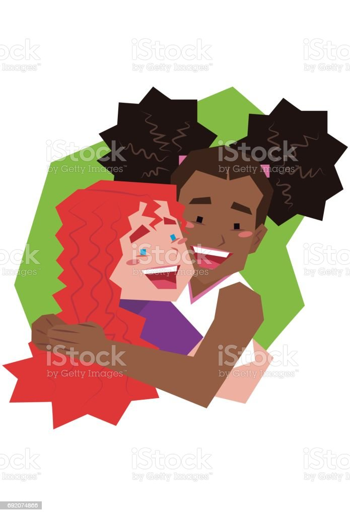 amizade vector art illustration