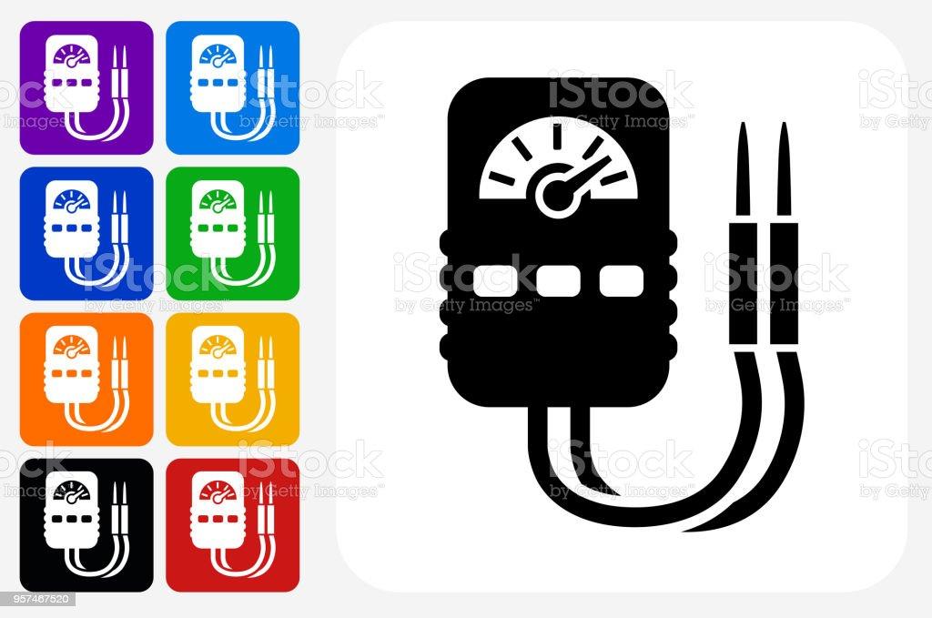 Amperemeter Symbol Square Buttonset Stock Vektor Art und mehr Bilder ...