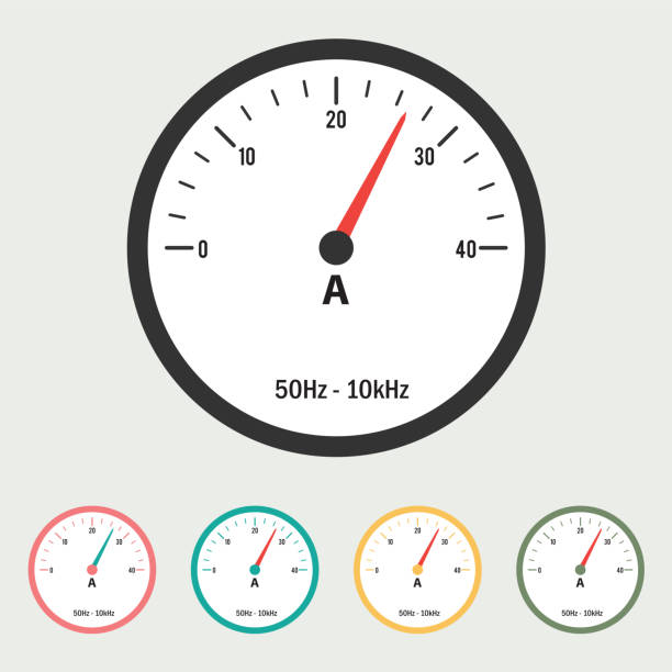 Ammeter Clip Art : Royalty free voltmeter clip art vector images