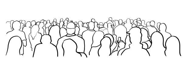 Unter der Menge – Vektorgrafik