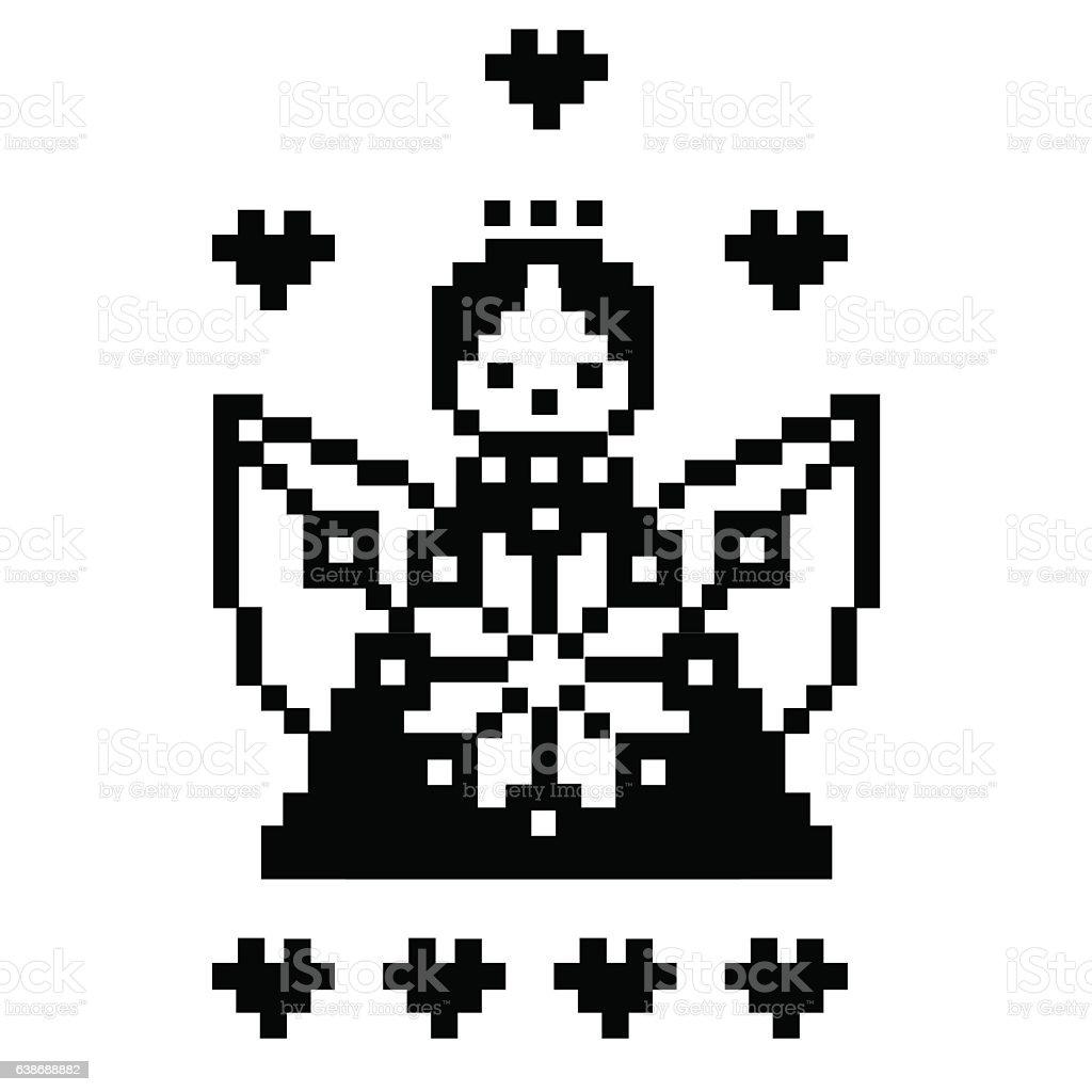 Amour Angel Pixel Art Stock Illustration Download Image