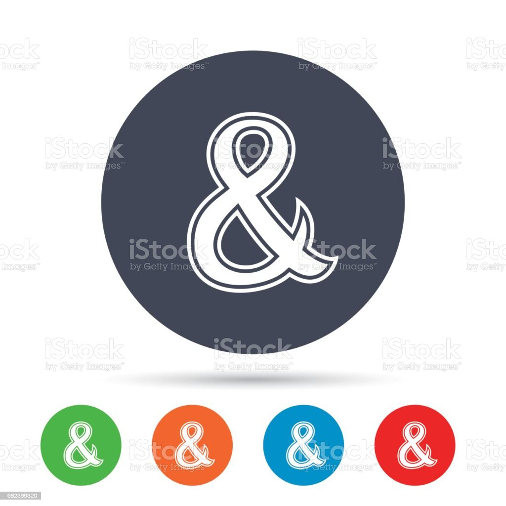 Ampersand sign icon. Logical operator AND. royalty-free ampersand sign icon logical operator and stock vector art & more images of ampersand