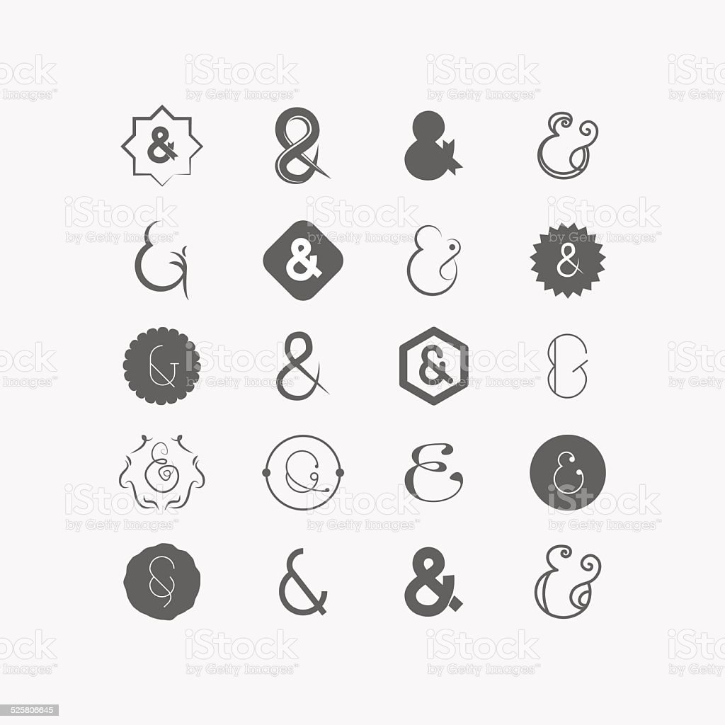 Ampersand vector art illustration