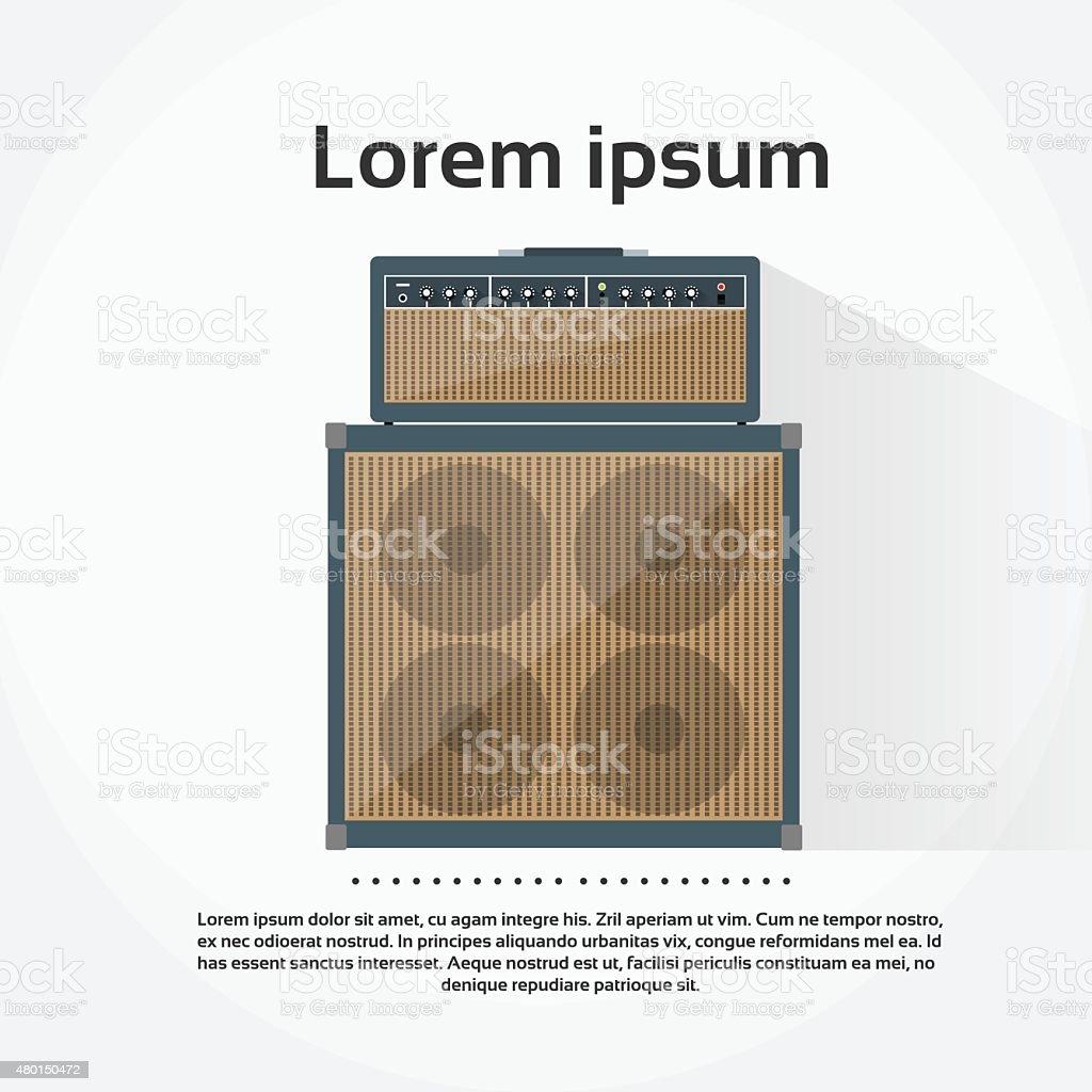 Amplifier Combo Rock Music Equipment Concept Flat vector art illustration