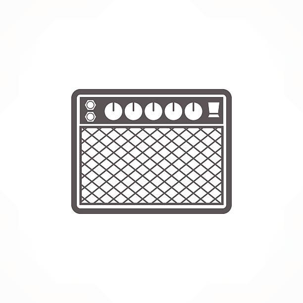 amplifier icon vector art illustration