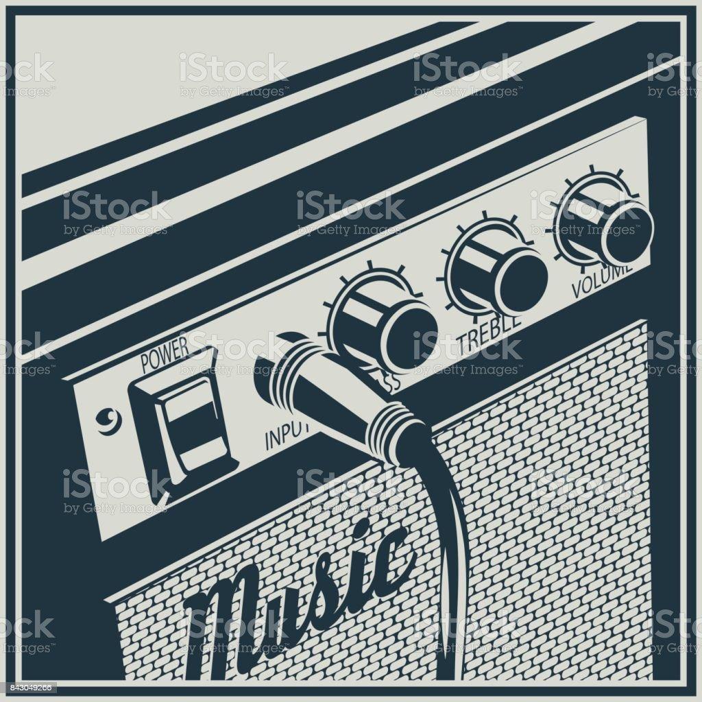 Amplifier Symbol vector art illustration