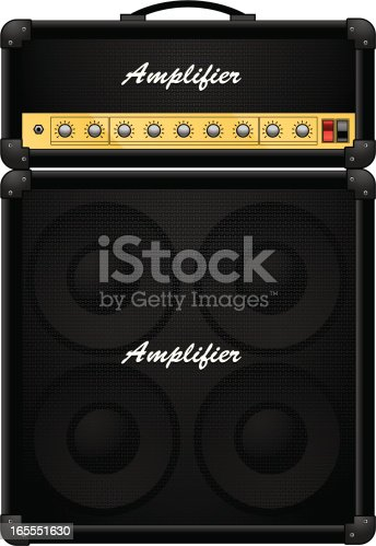 half stack guitar amplifier