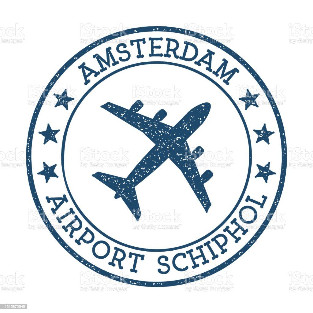 Amsterdam Airport Schiphol logo. - Royalty-free Amsterdam vectorkunst