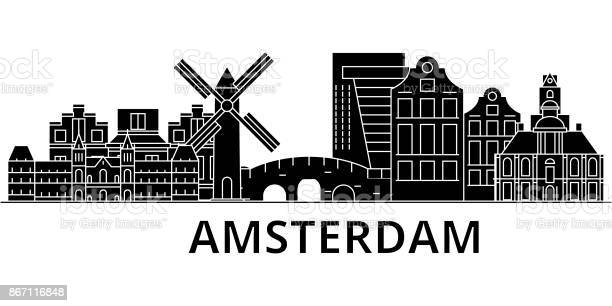 Amsterdam architecture vector city skyline travel cityscape with vector id867116848?b=1&k=6&m=867116848&s=612x612&h=kipcjmim48a3ksy3zwqhz0nci6t577vkt5ipiaclydq=