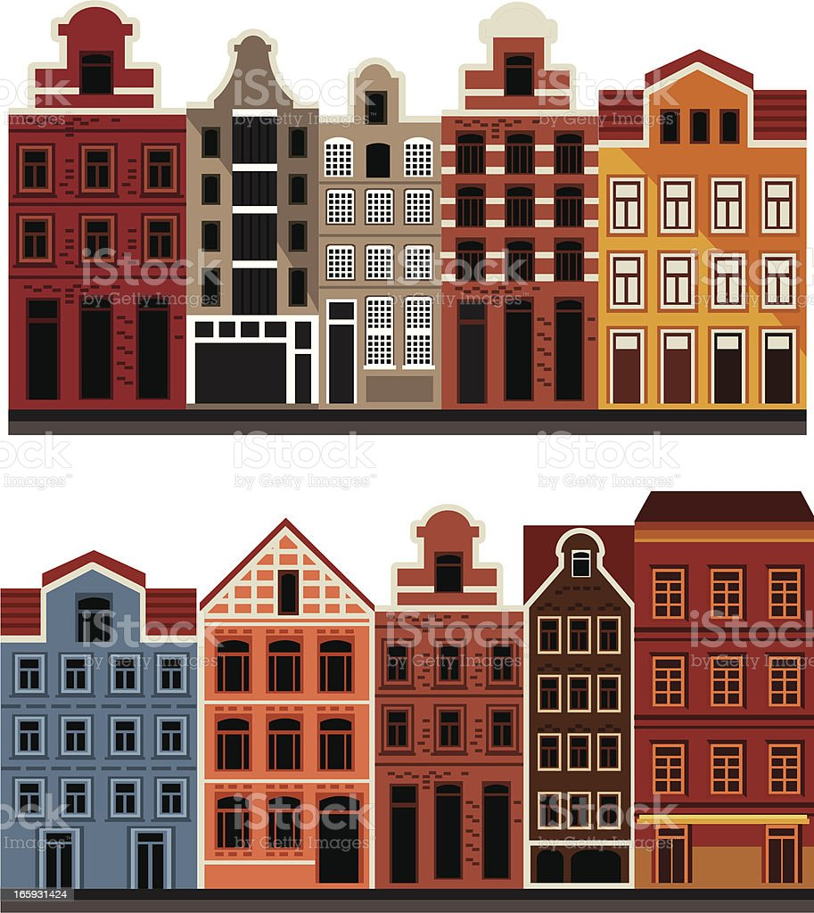 Amsterdam House vector art illustration