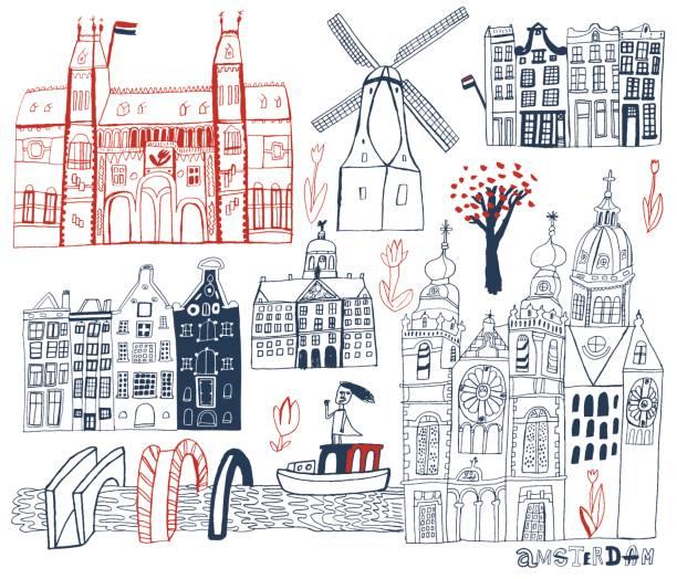 amsterdam, niederlande - niederlande stock-grafiken, -clipart, -cartoons und -symbole