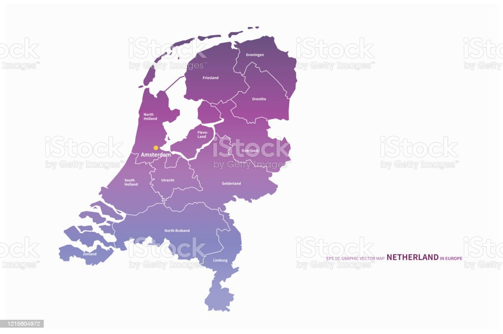 Picture of: Amsterdam Netherlands Map Netherlands Map In European Country Stock Illustration Download Image Now Istock