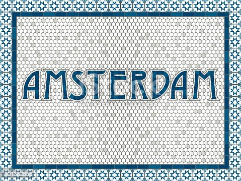 istock Amsterdam Old Fashioned Mosaic Tile Typography 901382858