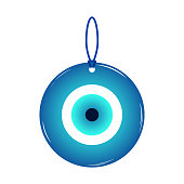 Amulet, talisman from the evil eye and spoilage. Vector illustration.
