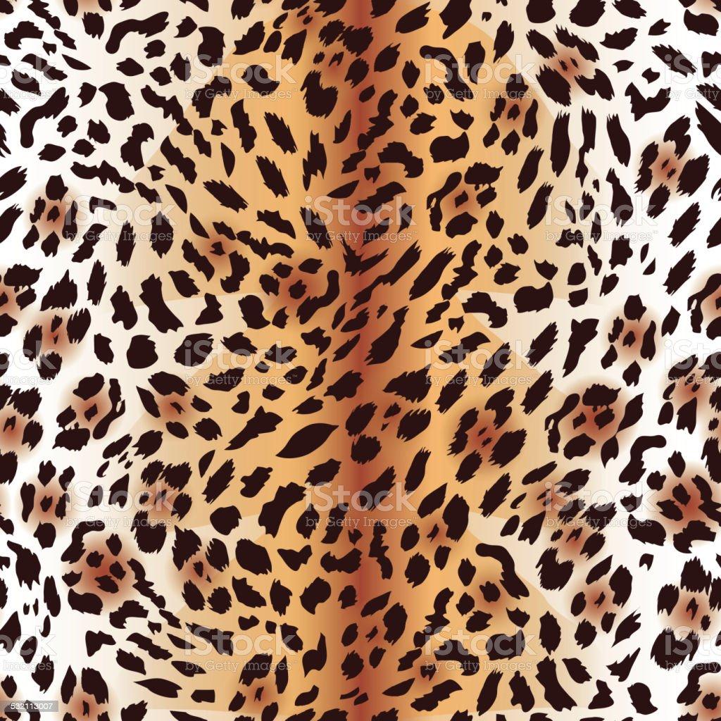 Panthère de l'amour fourrure seamless vector imprimé - Illustration vectorielle