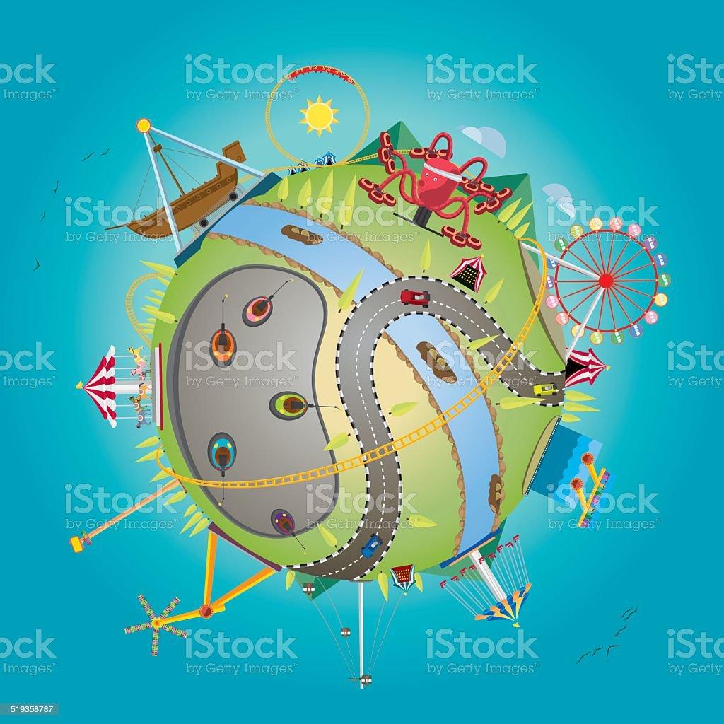 Globo de diversiones - ilustración de arte vectorial
