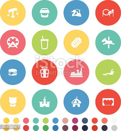Vector File of Amusement Icon Set