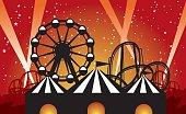 Amusement Park at Night
