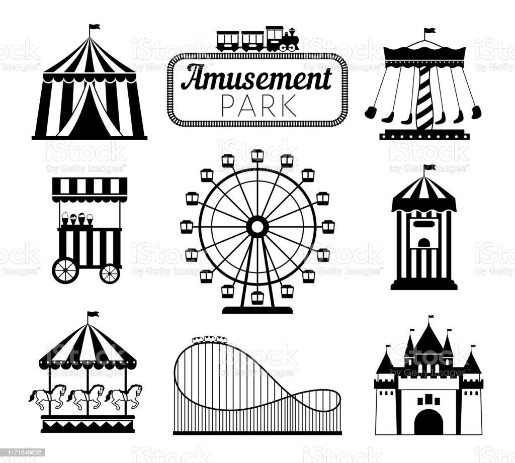 遊園地黒いアイコン - アイコンのベクターアート素材や画像を多数ご ...