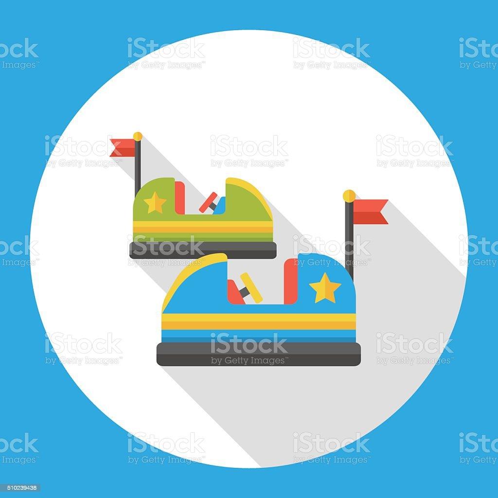 Parque de diversiones icono plana transición de automóviles - ilustración de arte vectorial