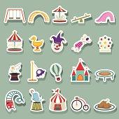 Amusement Park icons sticker