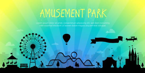 Amusement park - modern vector illustration vector art illustration