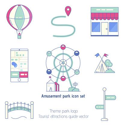 Amusement park objects Vector