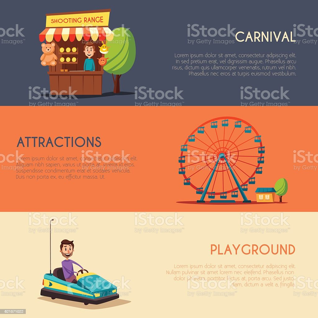 Amusement park theme. Cartoon vector illustration amusement park theme cartoon vector illustration – cliparts vectoriels et plus d'images de activité libre de droits