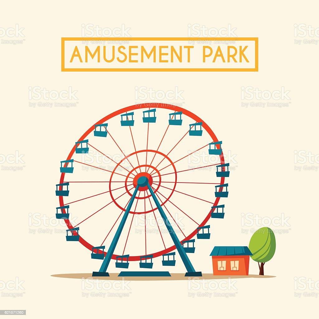 Amusement park theme. Cartoon vector illustration amusement park theme cartoon vector illustration – cliparts vectoriels et plus d'images de art libre de droits