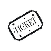 Amusement park ticket black simple icon