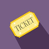 Amusement park ticket flat icon