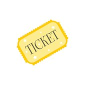 Amusement park ticket icon