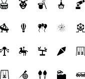 Amusement Park Vector Icons 4