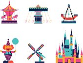 amusement park elements.eps8,ai8,jpg format are available.