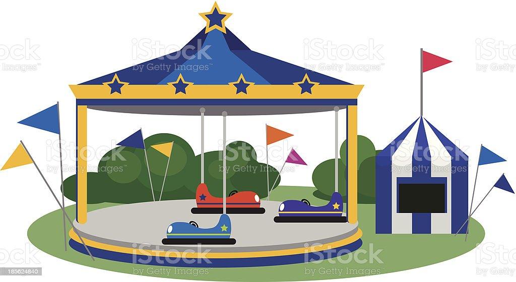Parque de diversiones - ilustración de arte vectorial
