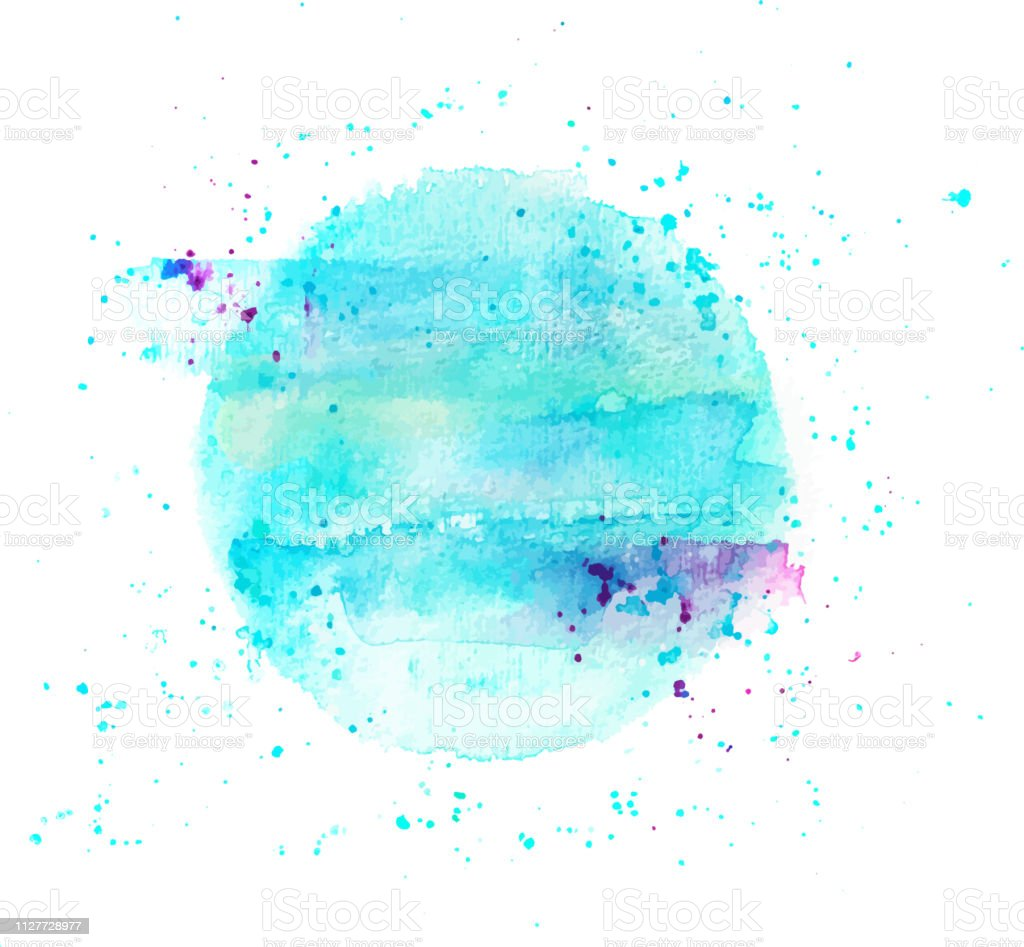 An Abstract Artistic Vibrant Blue Watercolor Background Texture