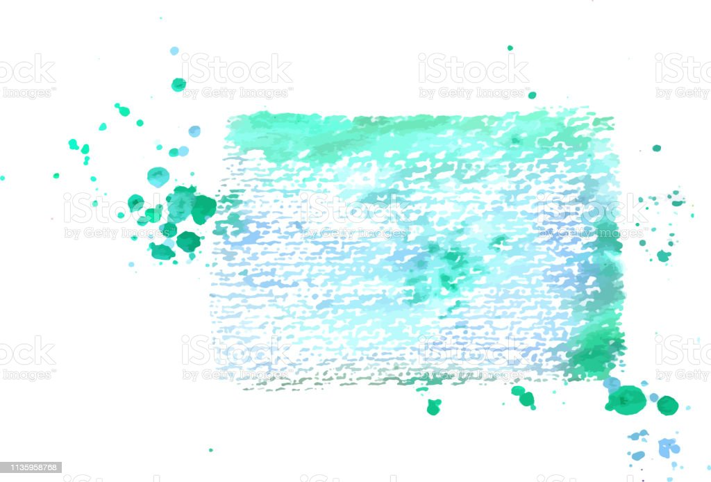 An Abstract Artistic Vibrant Teal Blue Watercolor Background Texture