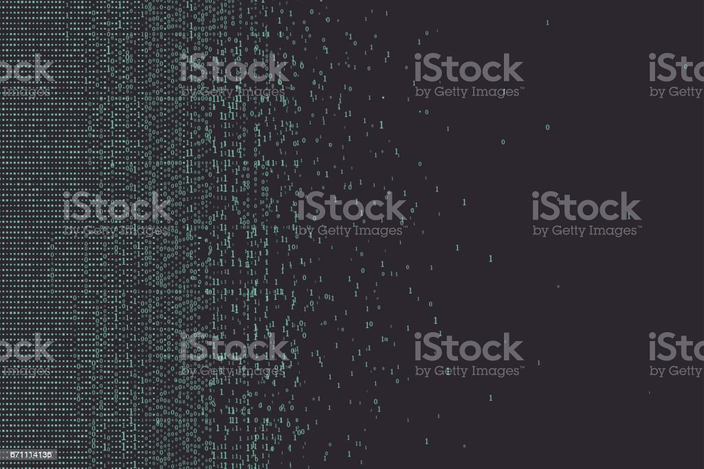 An abstract background consisting of binary numbers. vector art illustration