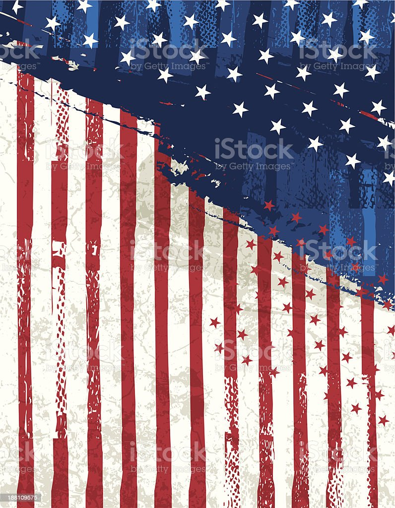 An abstract background of a United States flag vector art illustration