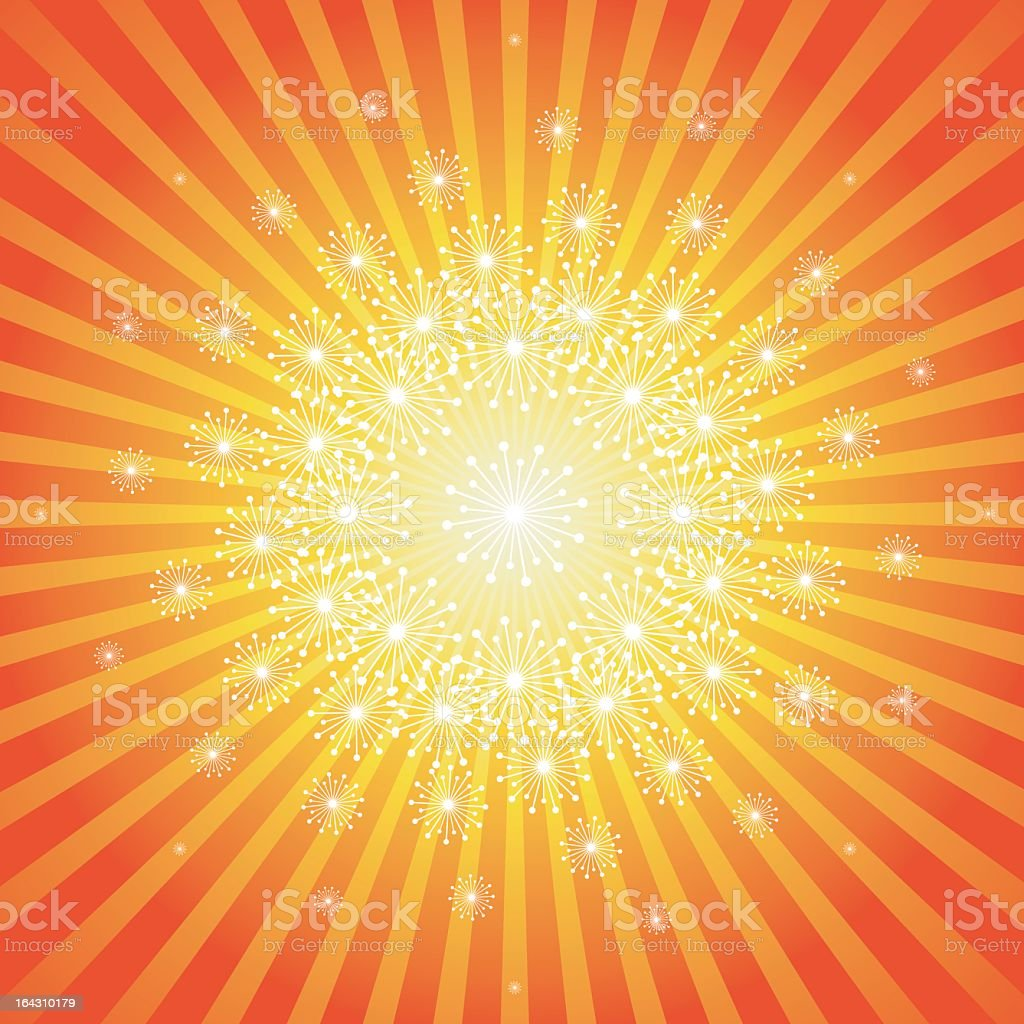 An abstract background with a bright center royalty-free stock vector art