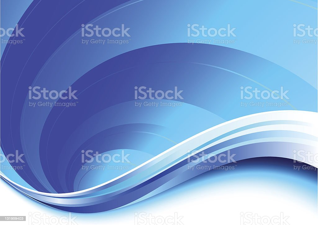 An abstract background with multishaded blue waves royalty-free stock vector art