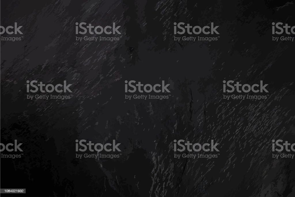 Un abstrait ardoise noire, un cadre sombre avec une place pour le texte, une texture vecteur - Illustration vectorielle