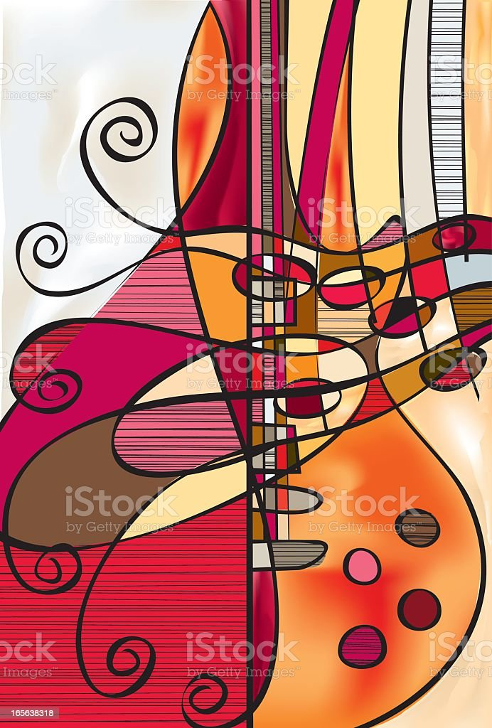 An abstract design of a Les Paul guitar