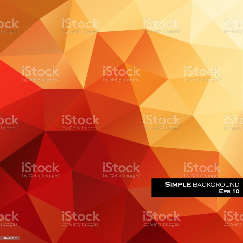 An abstract drawing of triangles with many sizes and shades royalty-free stock vector art